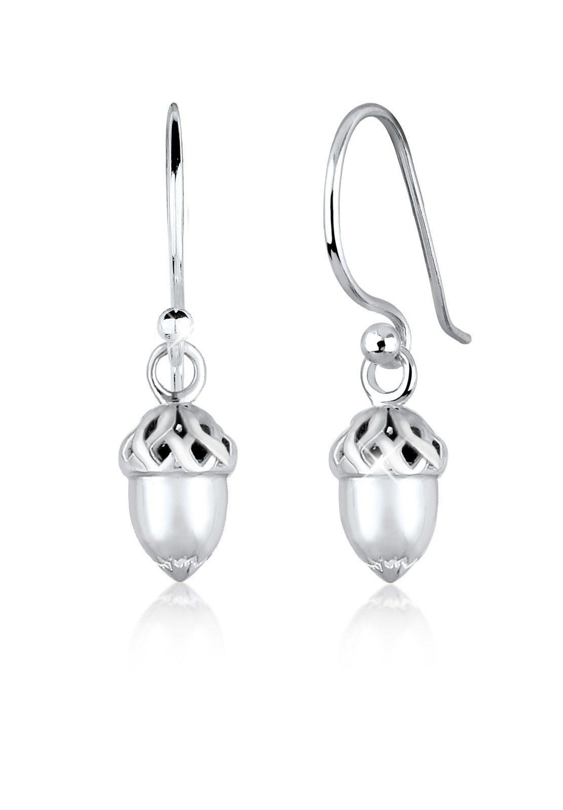 Elli Paar Ohrhänger »Haselnuss Wiesn Tracht 925 Sterling Silber«