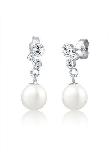 Elli Paar Ohrhänger »Perlen Swarovski® Kristalle Elegant 925 Silber«