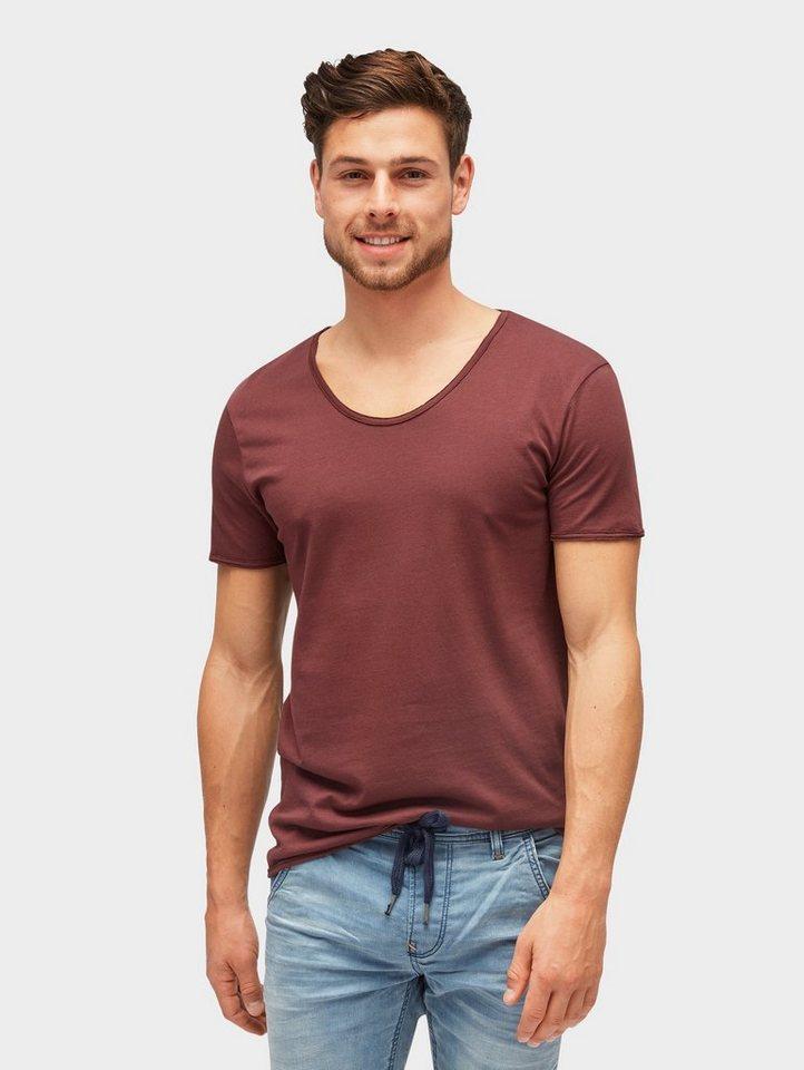 tom tailor denim -  T-Shirt »T-Shirt mit V-Ausschnitt«