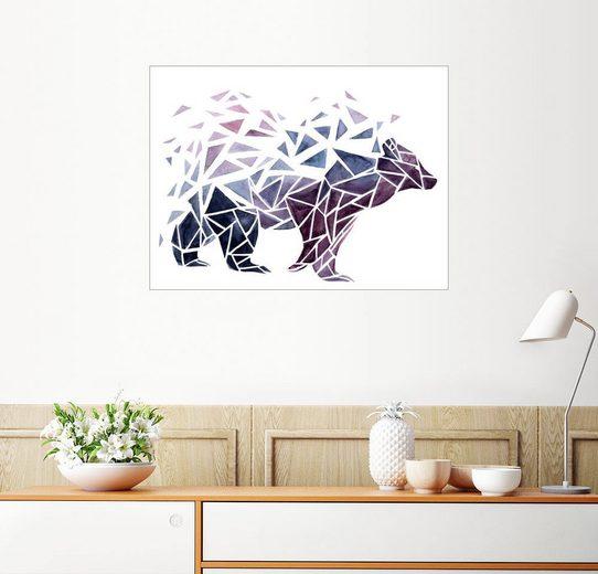 Posterlounge Wandbild - Déborah Maradan »Geometric Bear«