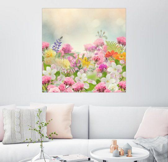 Posterlounge Wandbild »Wilde Blumenpracht«