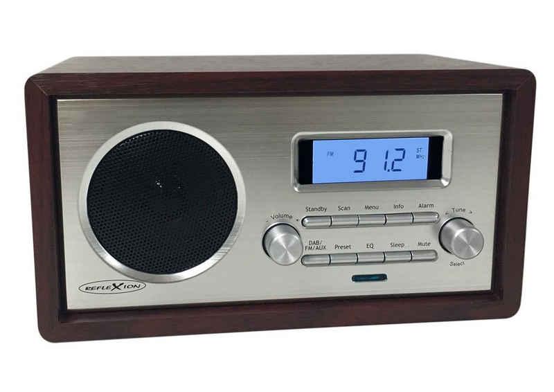 Reflexion »HRA1250« UKW-Radio (UKW Tuner, automatische und manuelle Sendersuche, LCD Anzeige mit blauer Hintergrundbeleuchtung, Sleep-, Snooze-, Uhr- und Weckfunktion, Teleskopantenne)
