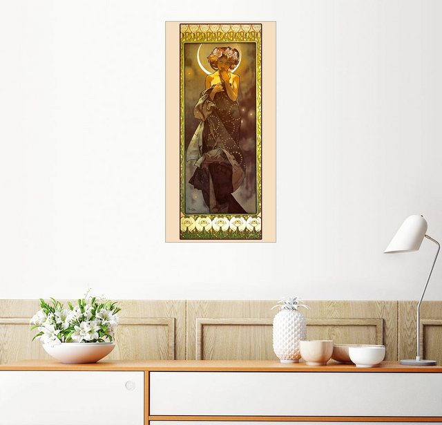 Posterlounge Wandbild - Alfons Mucha »Der Mond« | Dekoration > Bilder und Rahmen > Bilder | Bunt | Holz - Aluminium | Posterlounge