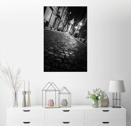 Posterlounge Wandbild - gn fotografie »Galata-Turm in Istanbul bei Nacht«