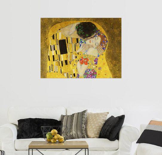 Posterlounge Wandbild - Gustav Klimt »Der Kuss (Detail)«
