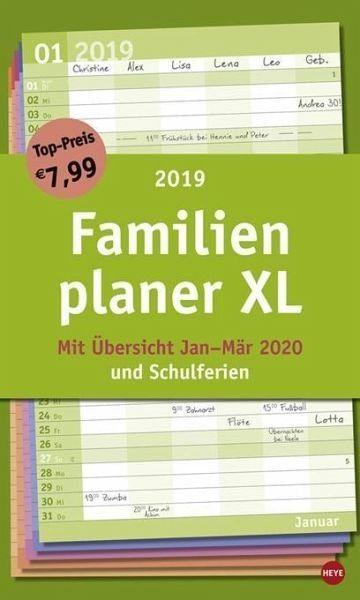 Kalender »Familienplaner XL Basic 2019«