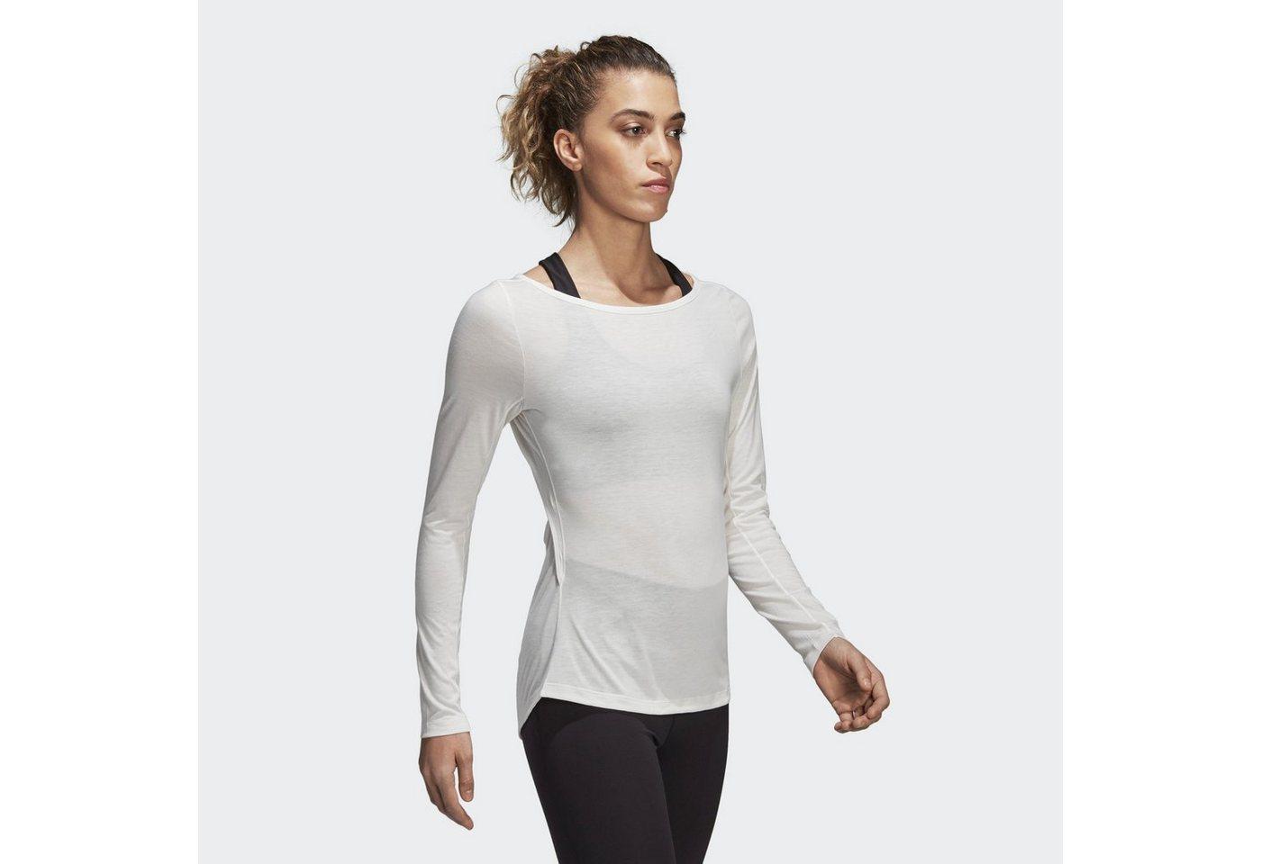 Damen adidas Performance Langarmshirt Wanderlust Longsleeve weiß   04059807098372