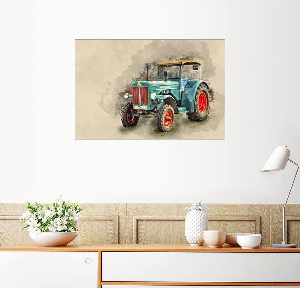 Posterlounge Wandbild - Peter Roder »Hanomag Traktor Oldtimer«