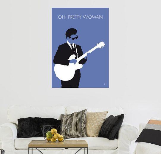 Posterlounge Wandbild - chungkong »No158 MY Roy Orbison Minimal Music poster«