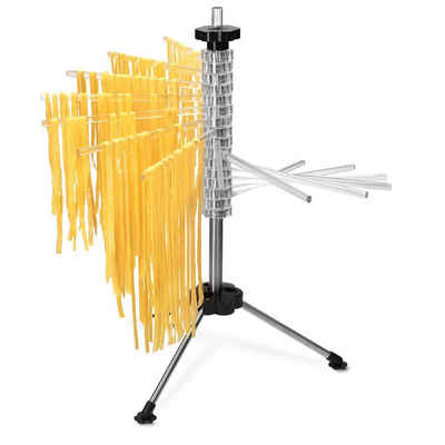 Navaris Nudeltrockner, Pasta Trockner aus Kunststoff und Edelstahl - mit Rezept - 2kg Nudeln aufhängen - Pastatrockner Nudelstange