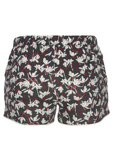 Allover Geblümt S Label Shorts Red Mit muster oliver Bodywear Schwarz sxQdhrtC
