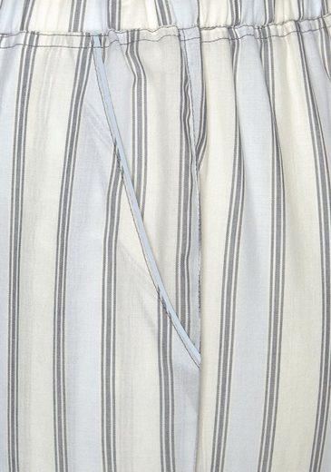 Schlafhose Mit Hellblau Eingrifftaschen Gestreift Lascana fY67yvIbg