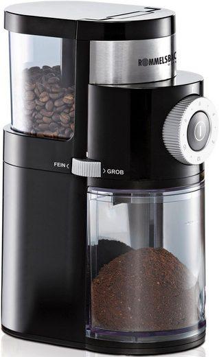 Rommelsbacher Kaffeemühle EKM200, 110 W, Scheibenmahlwerk, 250 g Bohnenbehälter