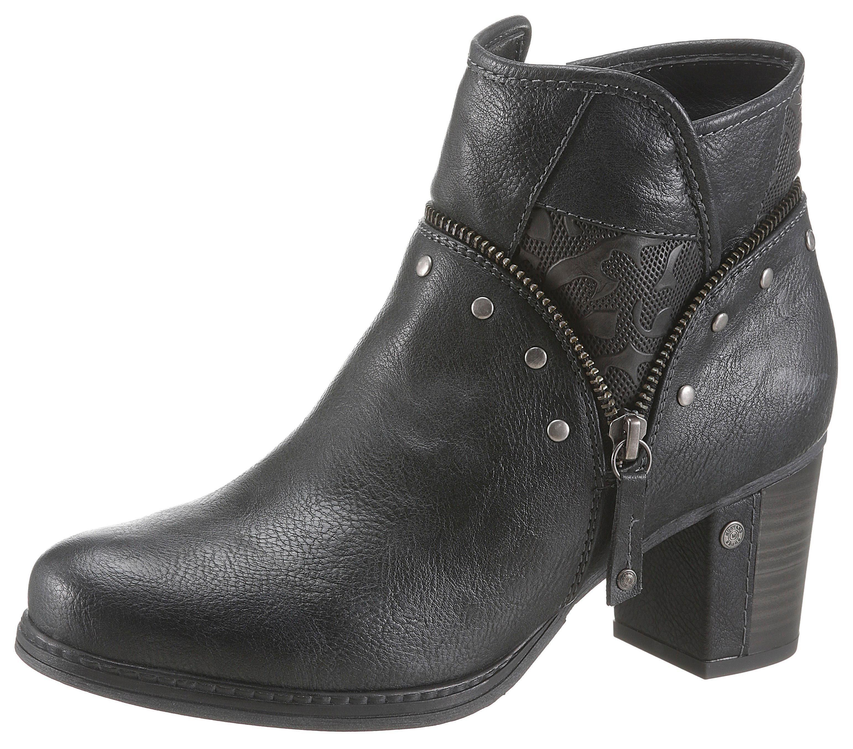 Mustang Shoes Stiefelette mit halb überzogenem Absatz online kaufen | OTTO