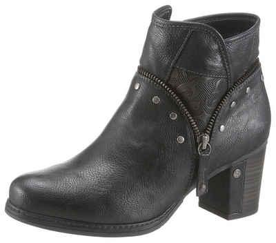 Mustang Shoes Stiefelette mit halb überzogenem Absatz d61024c8fa
