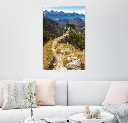Posterlounge Wandbild »Alpen und Wald an einem Sommertag«