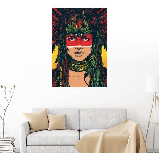Posterlounge Wandbild - Paola Morpheus »Aztekische Göttin«