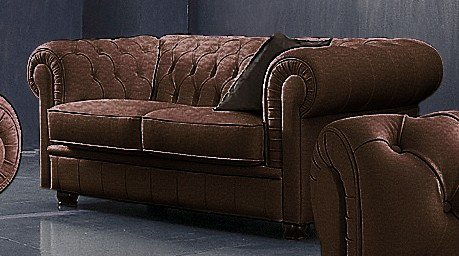 max winzer chesterfield 2 sitzer sofa kent im retrolook. Black Bedroom Furniture Sets. Home Design Ideas