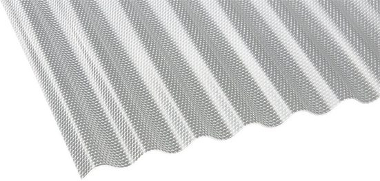 GUTTA Wellplatte »GUTTACRYL«, Acryl klar, Wabe, BxL: 104x400 cm