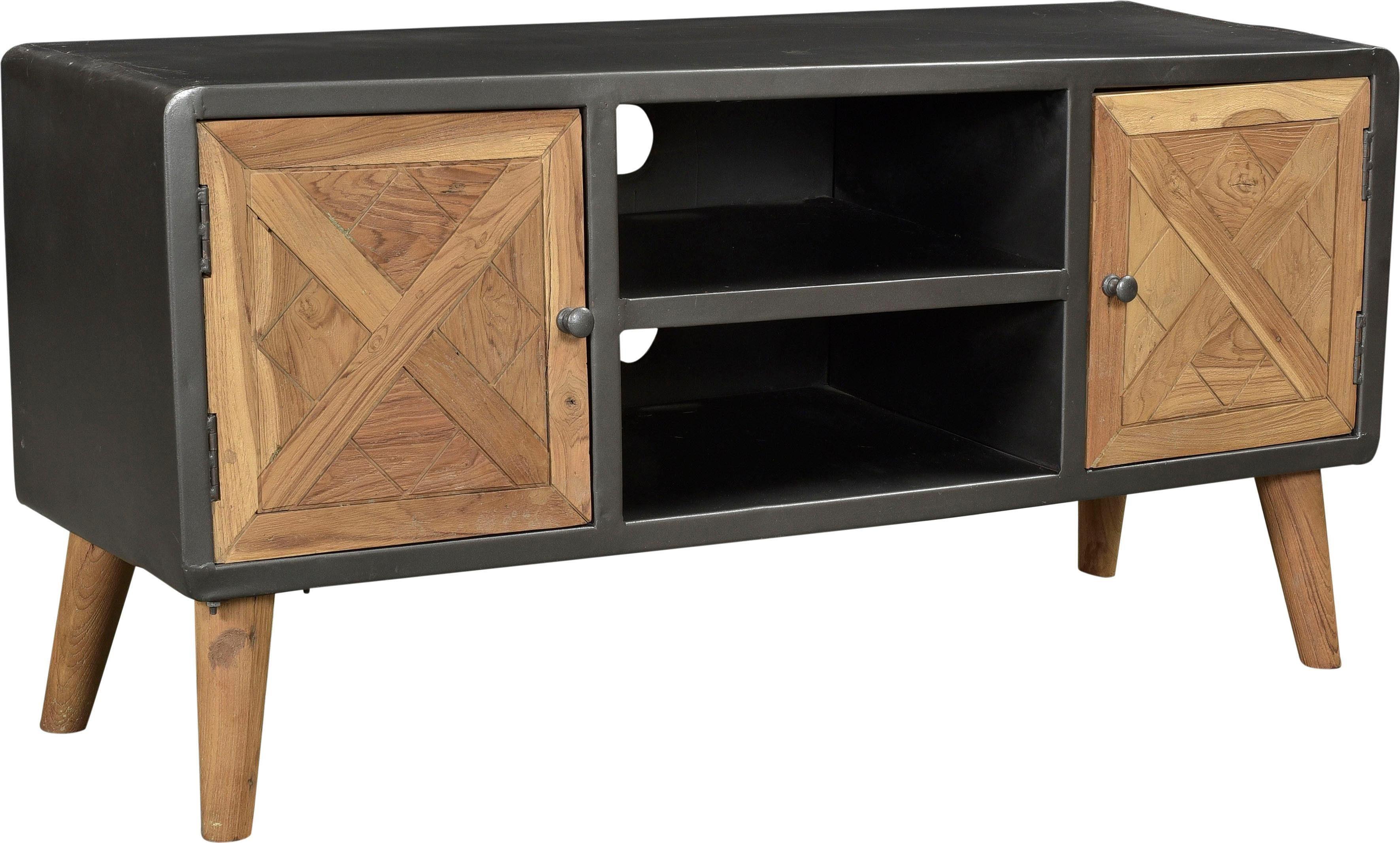 SIT Lowboard »CROSS« aus recyceltem Teakholz, Breite 123 cm