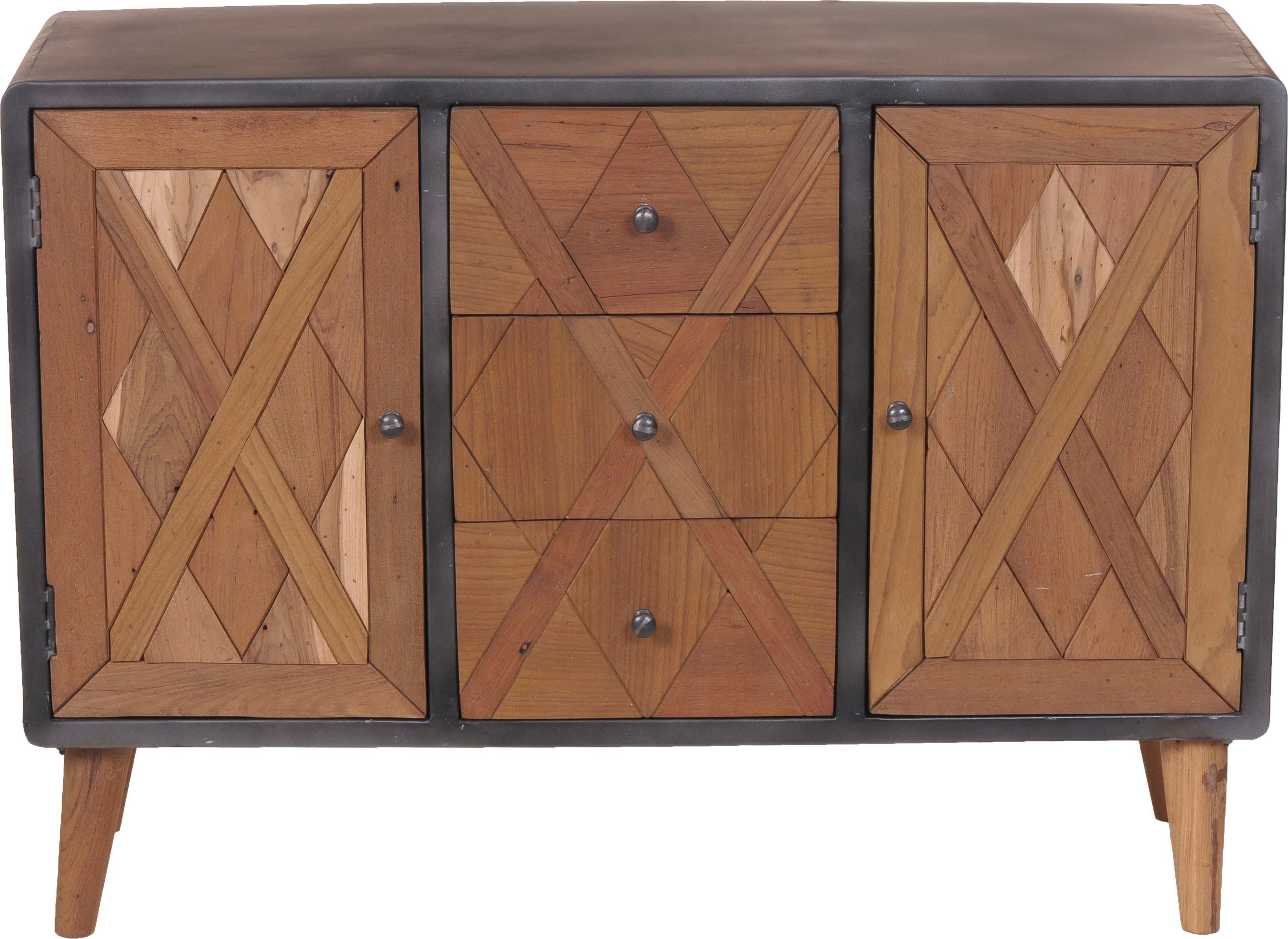 SIT Sideboard »CROSS« aus recyceltem Teakholz, Breite 120 cm
