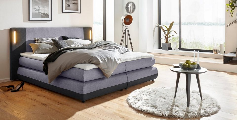 collection ab boxspringbett abano inkl led beleuchtung und topper online kaufen otto. Black Bedroom Furniture Sets. Home Design Ideas