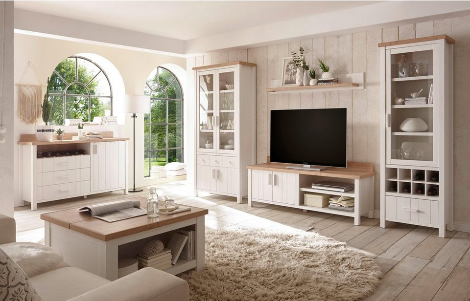 home affaire wohnwand cottage 4 tlg pflegeleichte oberfl chen online kaufen otto. Black Bedroom Furniture Sets. Home Design Ideas