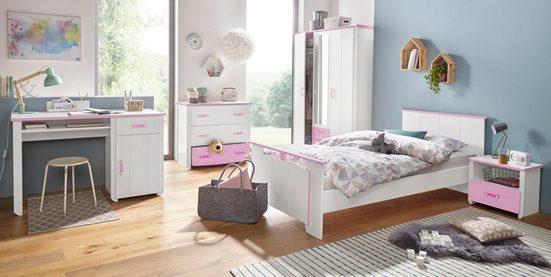 Parisot Jugendzimmer-Set »Biotiful«, (Set, 4-St), mit 3-trg. Kleiderschrank