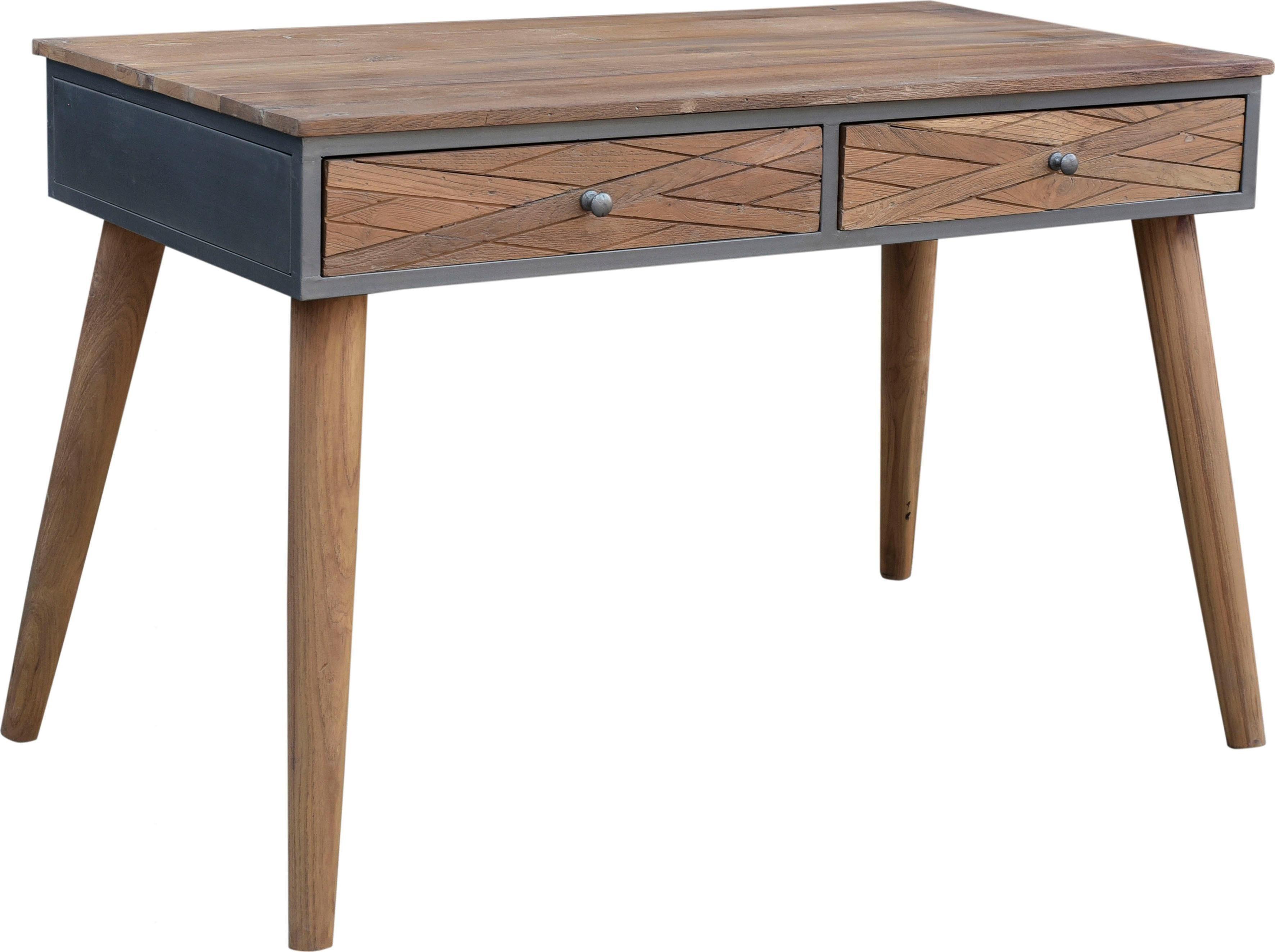 SIT Schreibtisch »CROSS« aus recyceltem Teakholz, Breite 120 cm