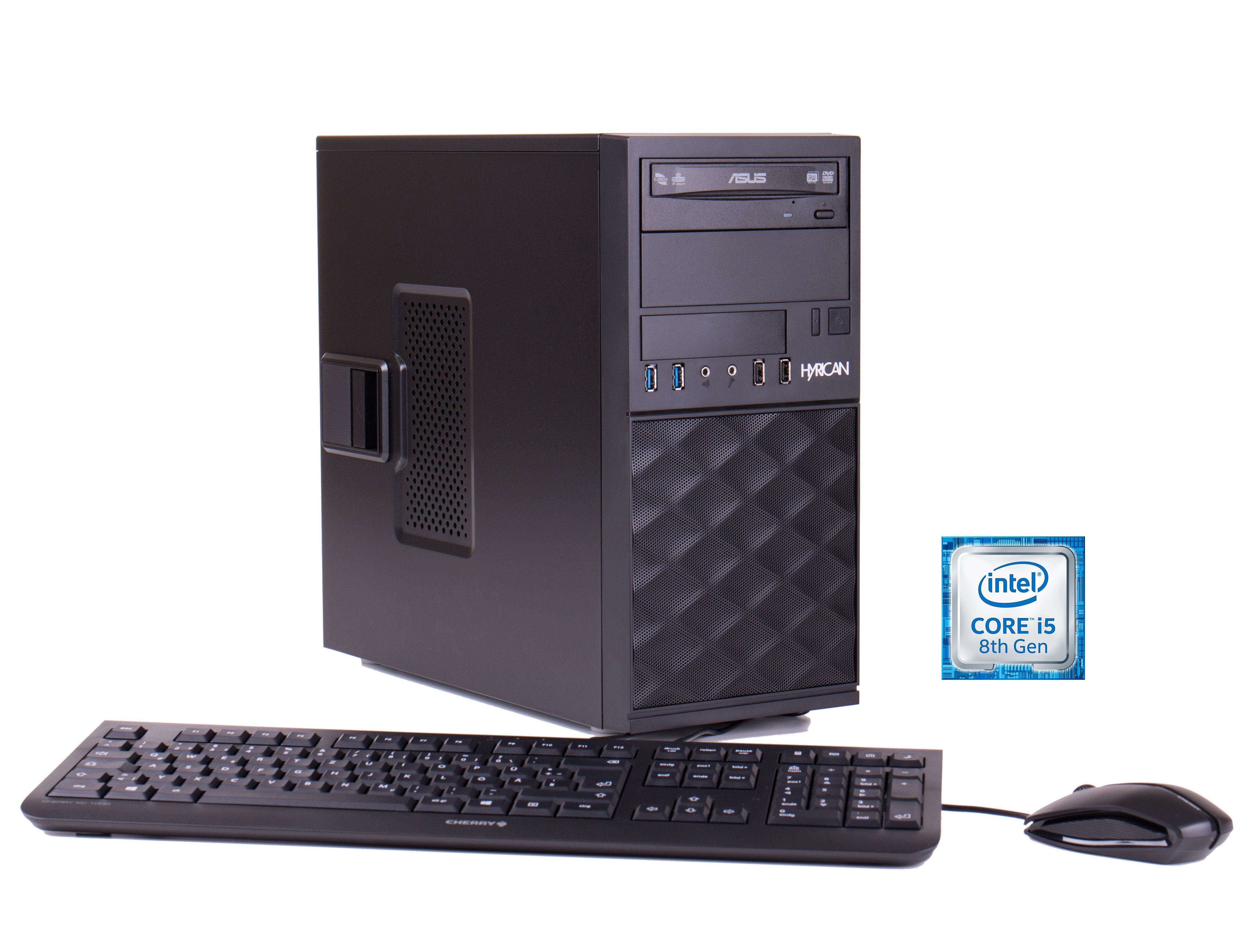 HYRICAN ProBusiness PC i5-8400 8GB 500GB PCIe SSD GTX 1070 Win 10 Pro »Workstation CTS00502«
