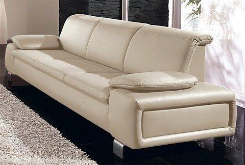 Sit&More 3, 5-Sitzer mit Armlehnkissen in creme