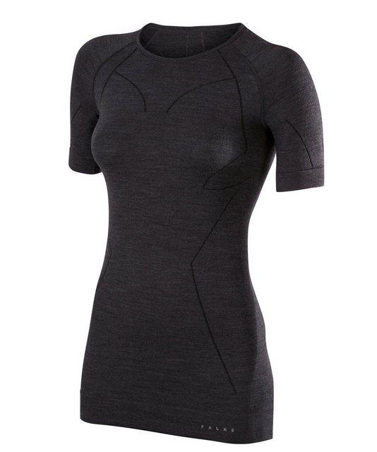 Damen FALKE Funktionsshirt Wool-Tech mit feinster Merinowolle schwarz | 04043874112086