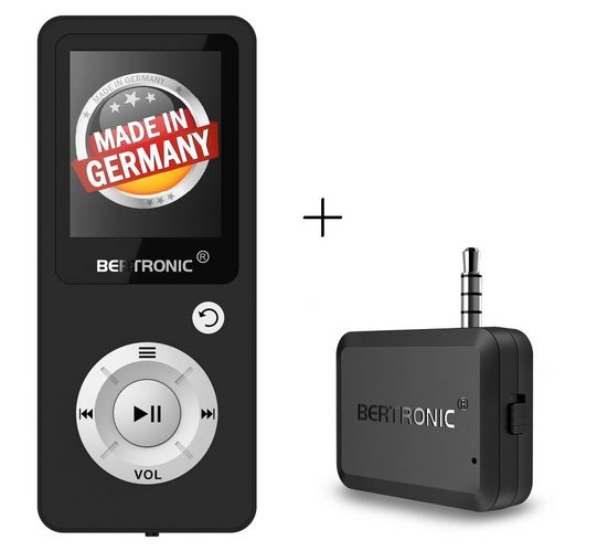 BERTRONIC »Royal BC04« MP3-Player (16 GB Speicherkarte, Made in Germany, Audio-Player mit Bluetooth Adapter)