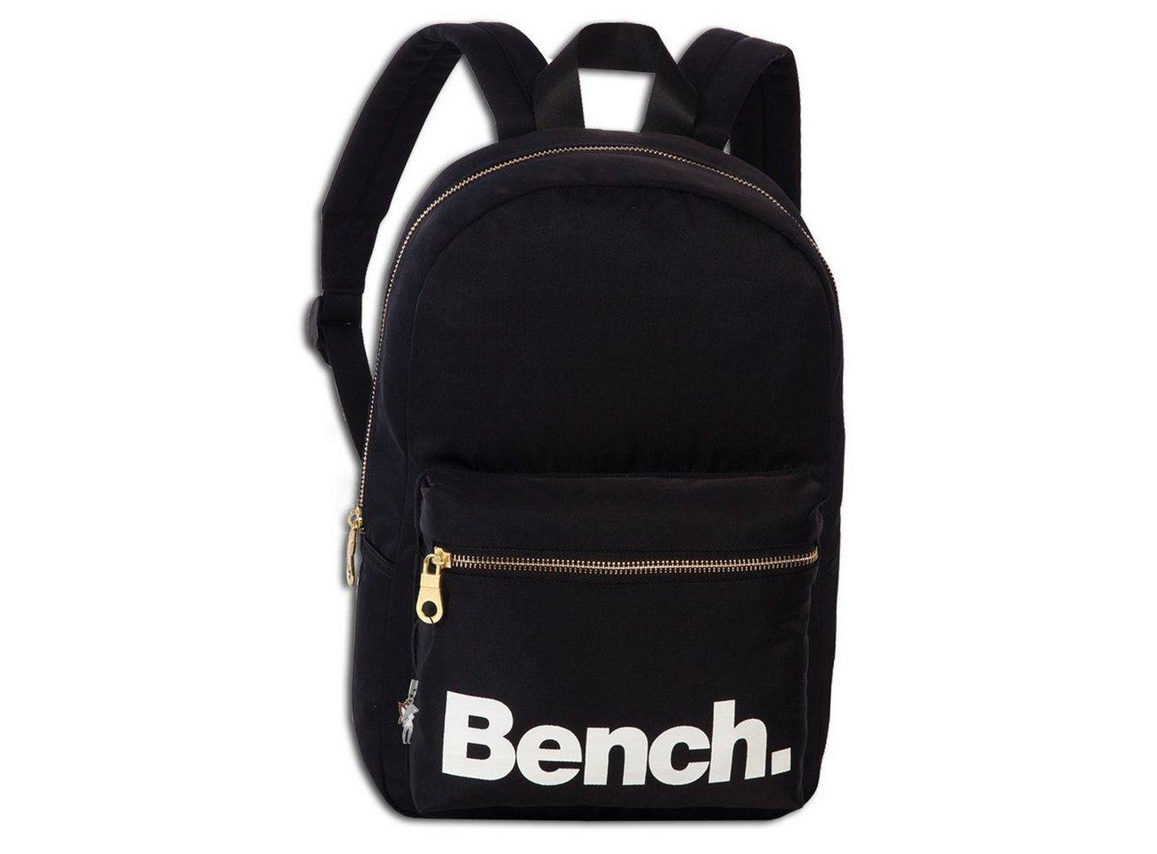 bench. -  Minirucksack »ORI304S Bench kleiner Rucksack schwarz«, Herren, Damen Freizeitrucksack, Sporttasche Nylon, schwarz