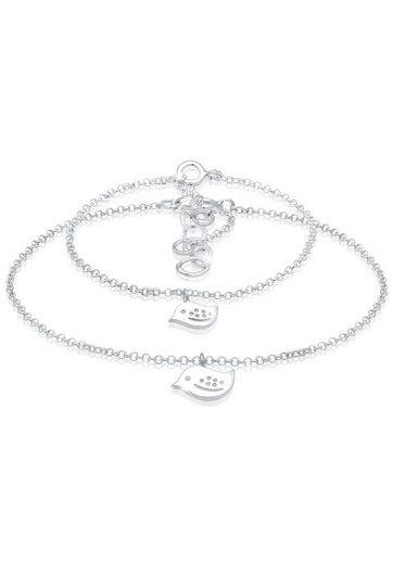 Elli Armband Set »Vogel Verbundenheit Mutter Kind Set 925 Silber«