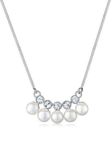Elli Perlenkette »Süßwasserzuchtperle Swarovski® Kristall 925 Silber«
