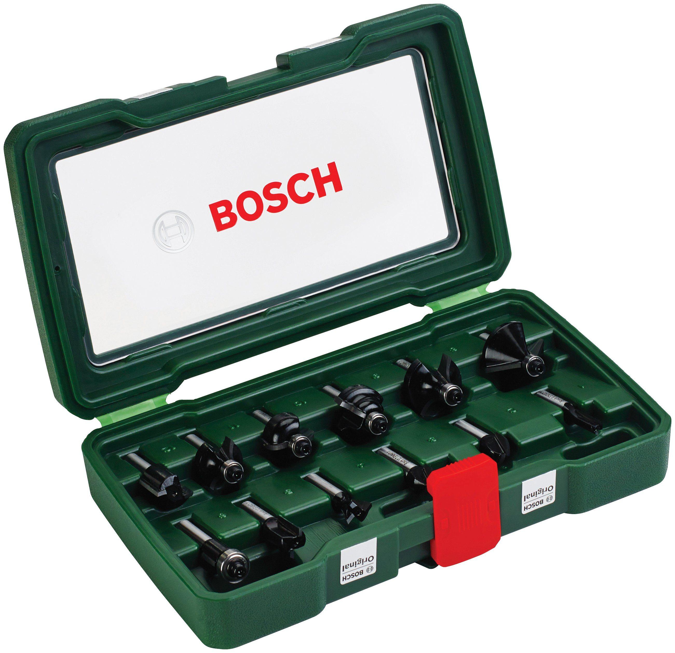 BOSCH Fräser-Set , 12-tlg., 8 mm Schaft