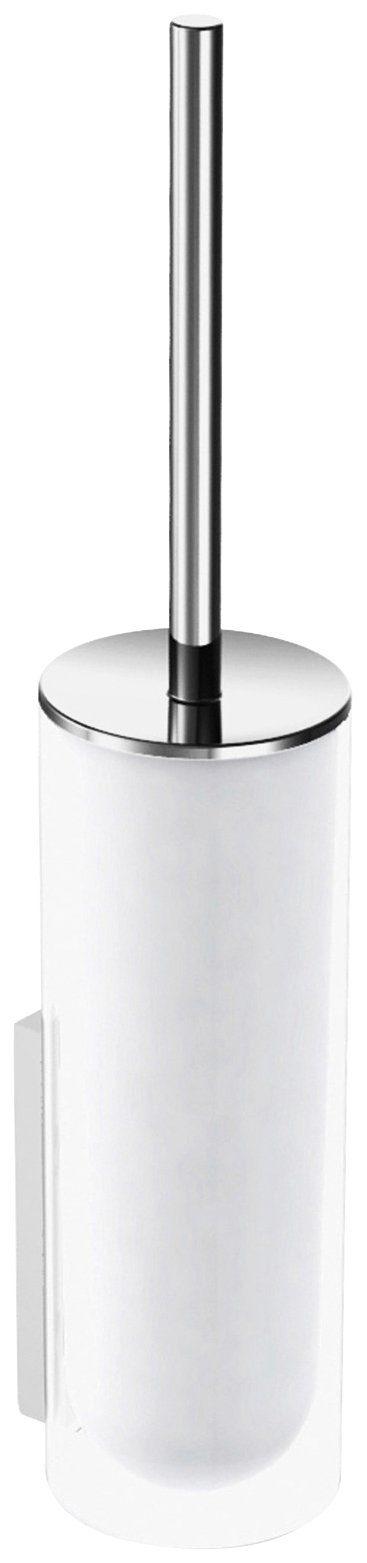 KEUCO WC-Bürstengarnitur »Edition 400«, Echtkristall-Glas mattiert, verchromt