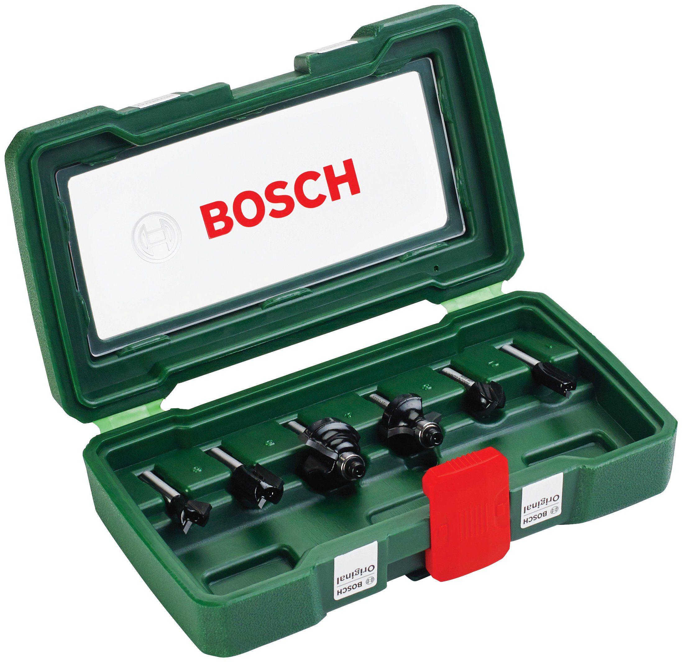 BOSCH Fräser-Set , 6-tlg., 6 mm Schaft
