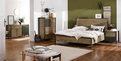 Quadrato Bett »Mirage«, mit Metallschrauben als Dekorationselement, in zwei verschiedenen Breiten erhältlich