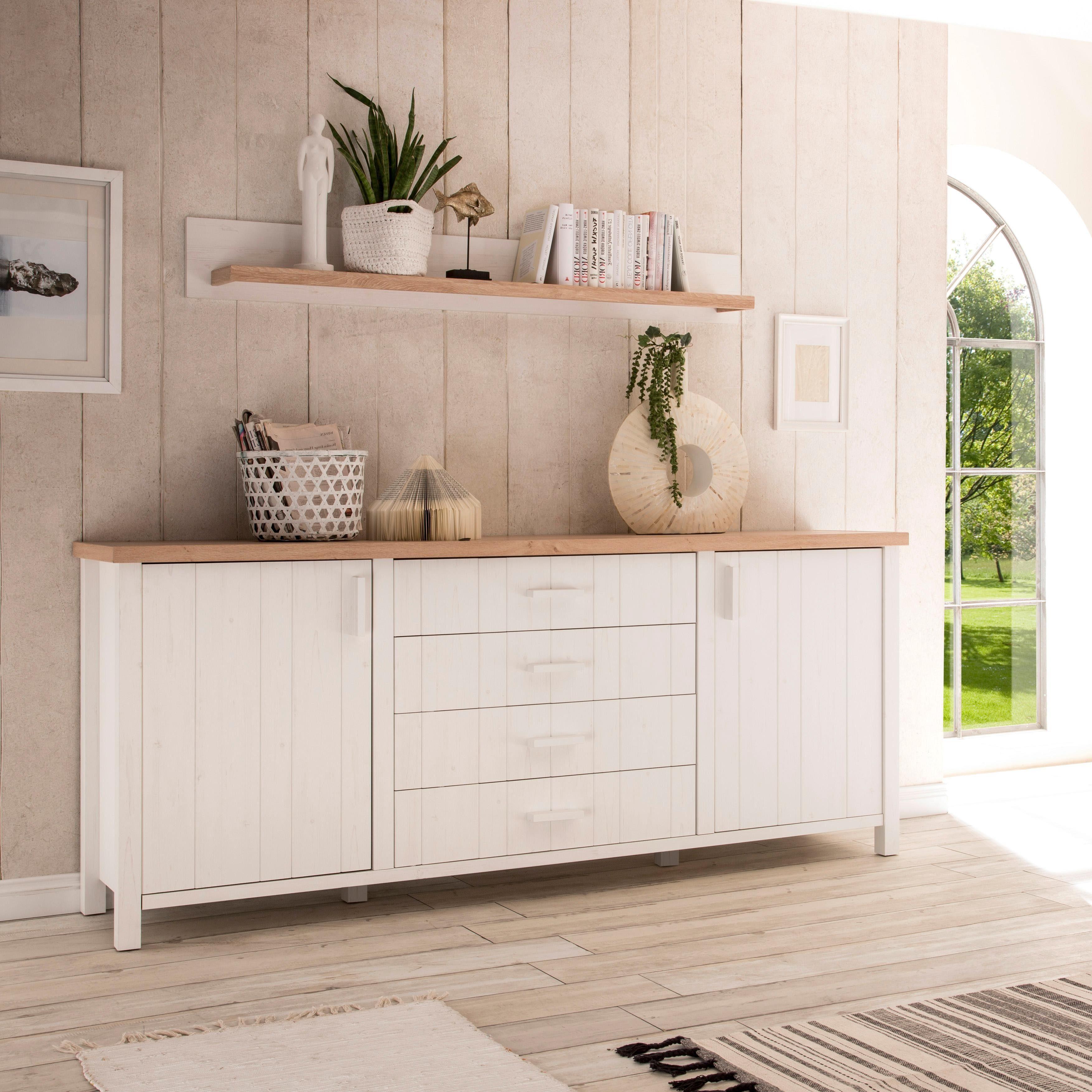 Home affaire Sideboard »Cottage«, Breite 218 cm