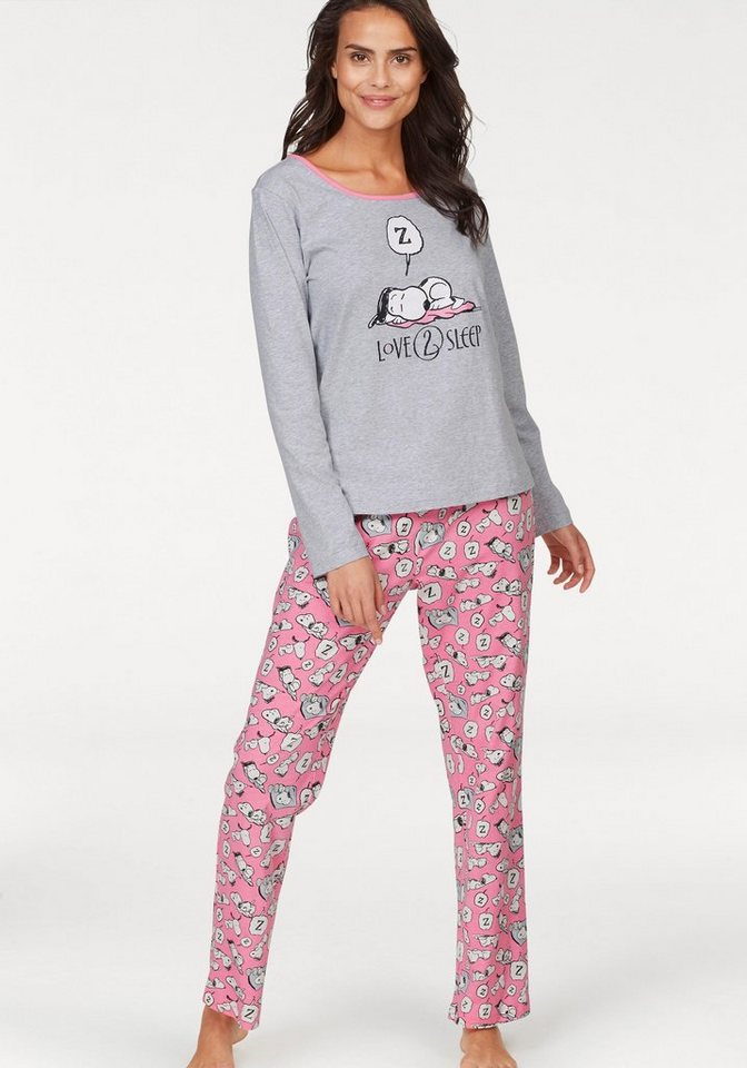 peanuts pyjama mit snoopy muster online kaufen otto. Black Bedroom Furniture Sets. Home Design Ideas