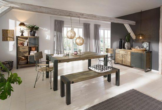 Quadrato Highboard »Mirage«, mit Metallschrauben als Dekorationselement, im Industrial-Style, Breite 90 cm