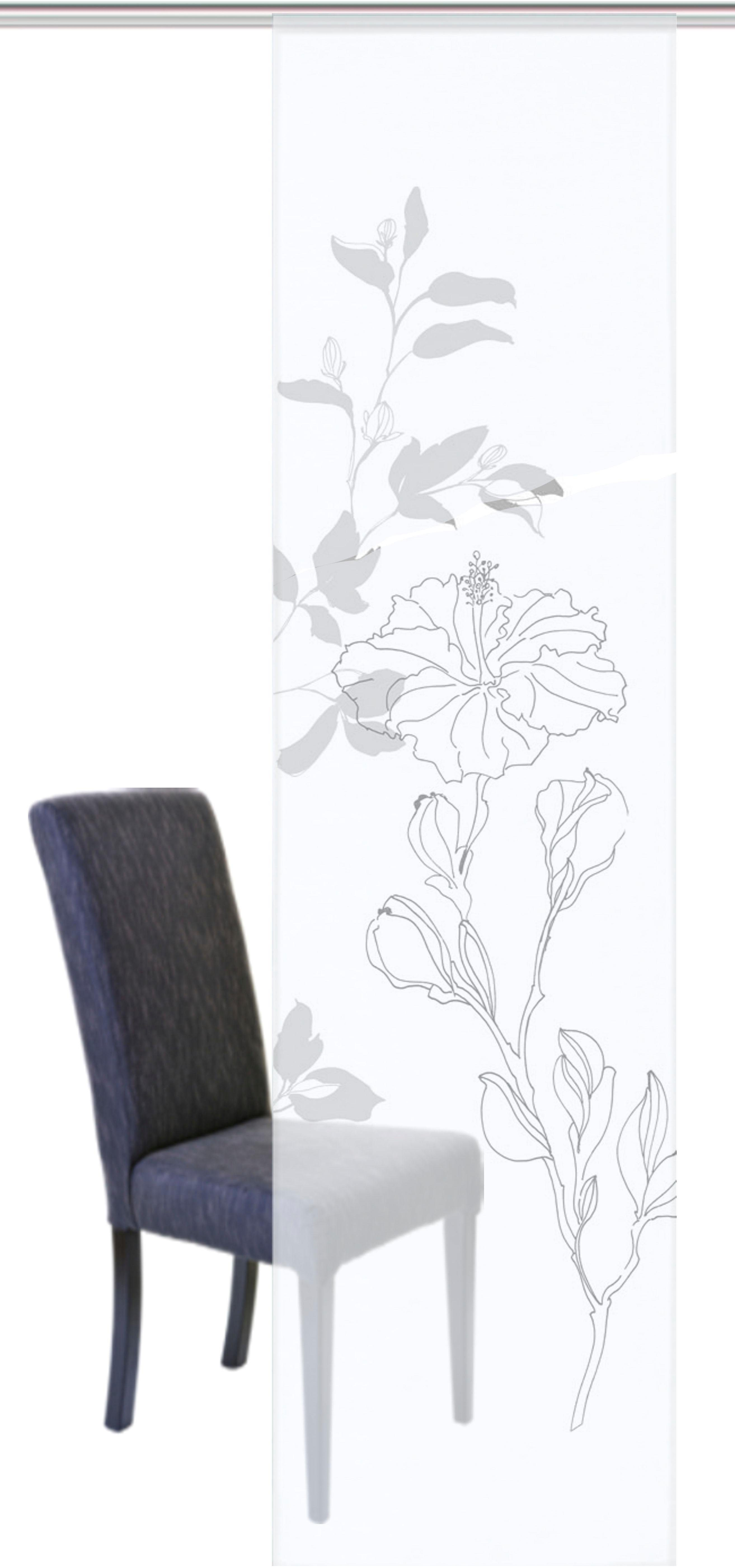 Schiebegardine »MESSINA«, HOME WOHNIDEEN, Klettband (1 Stück), Schiebevorhang Voile Digitaldruck