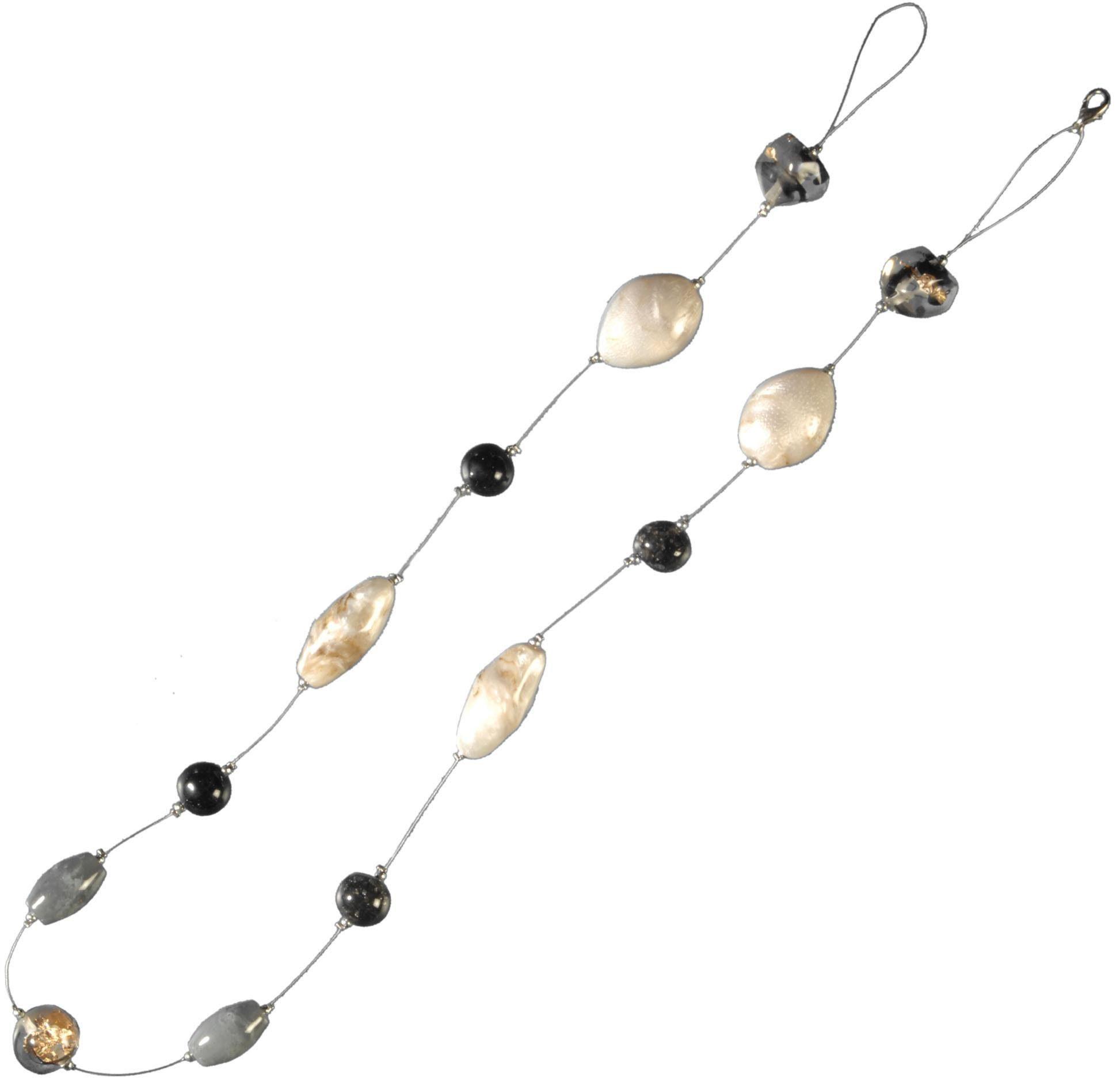 Dekokette, Liedeco, »Granit«, zur Dekoration von Seitenschals, Gardinen (1 Stück)