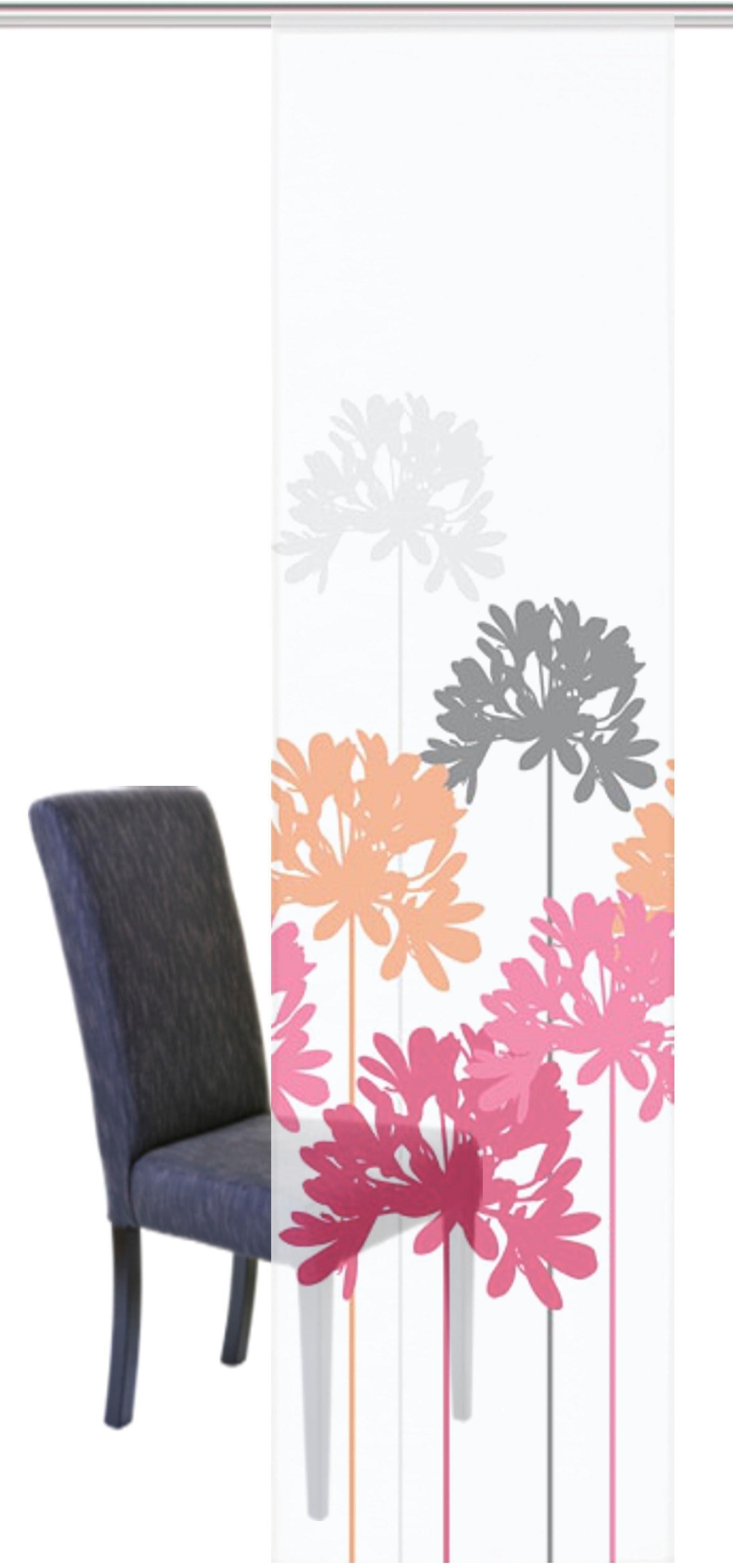 Schiebegardine »SAVONA«, HOME WOHNIDEEN, Klettband (1 Stück), Schiebevorhang Voile Digitaldruck