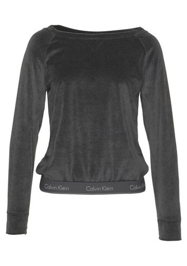 Aus Velours Klein Calvin Lounge Washed Black Sweatshirt tsQdhr