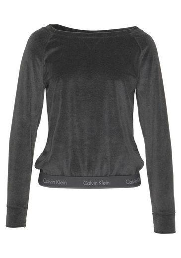 Klein Black Lounge Velours Sweatshirt Aus Calvin Washed qMpVGLjSUz