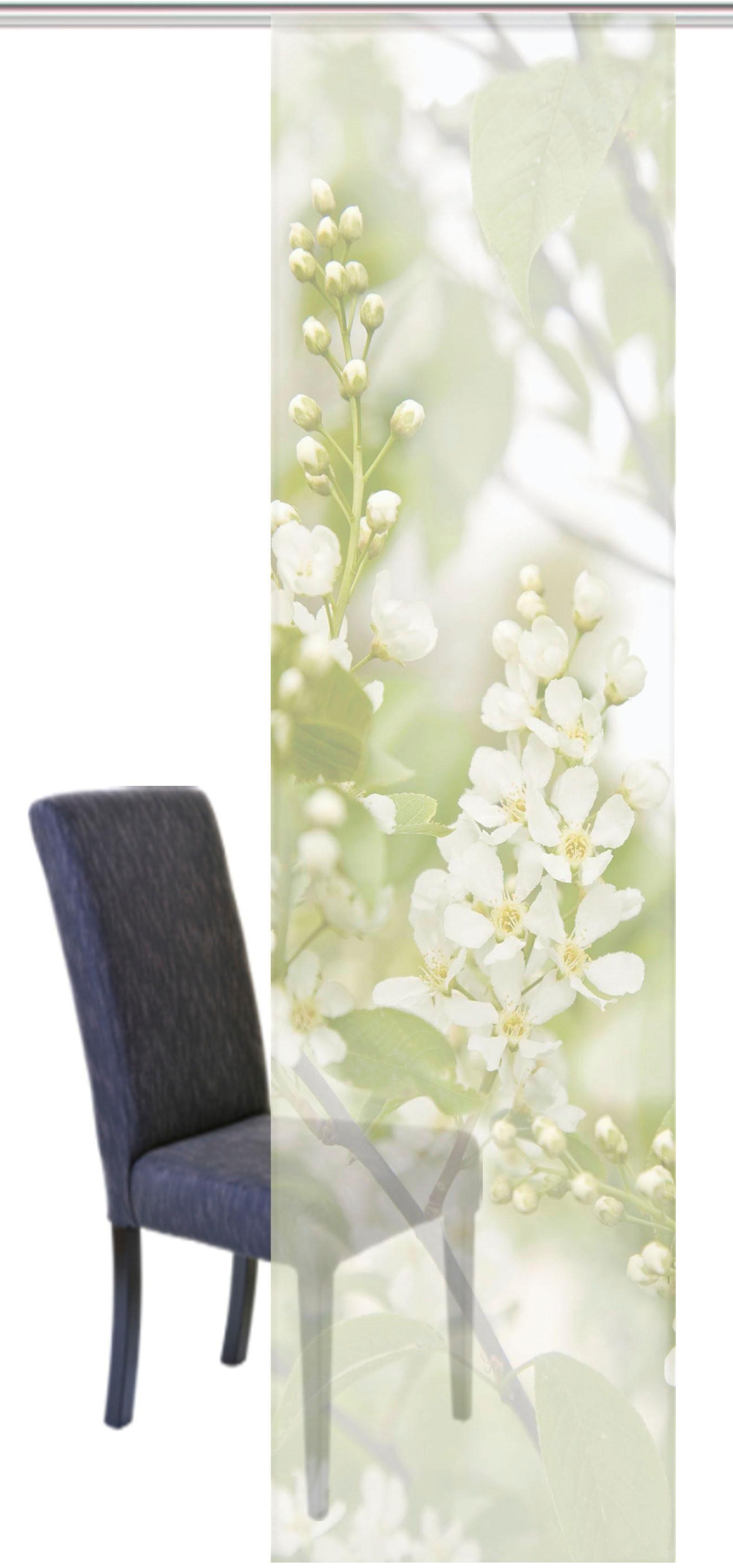 Schiebegardine »TURIN«, HOME WOHNIDEEN, Klettband (1 Stück), Schiebevorhang Voile Digitaldruck