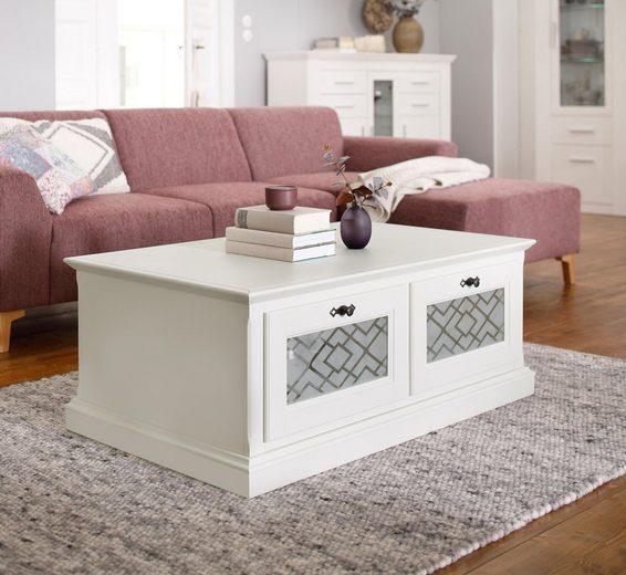 Premium collection by Home affaire Couchtisch »Kodia«, mit 2 Schubladen und Glaseinsätzen